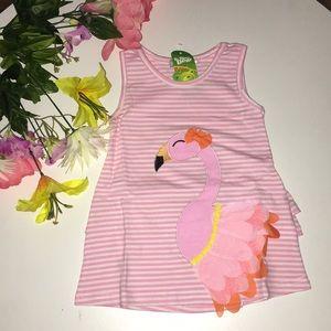Other - 🆕 Baby Girls Flamingo Ruffle Dress